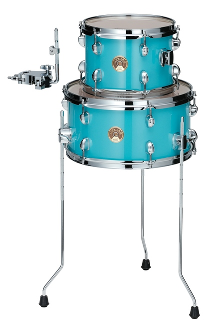 TAMA LJKT10F14-AQB CLUB-JAM MINI COMPACT 2-piece DRUM KIT